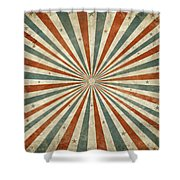 Grunge Ray Retro Design Shower Curtain