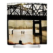 Grunge River Shower Curtain