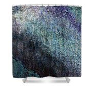 Grunge Texture Blue Ugly Rough Abstract Surface Wallpaper Stock Fused Shower Curtain