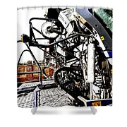 Grungy Jcb Shower Curtain