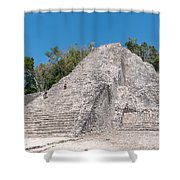 Grupo Nohoch Mul At The Coba Ruins  Shower Curtain