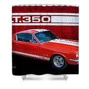 Red Gt 350 Mustang Shower Curtain