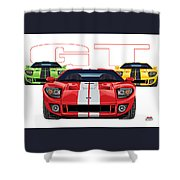 Gt Run Shower Curtain