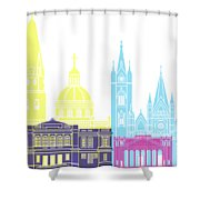 Guadalajara Mx Skyline Pop Shower Curtain