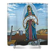 Guadalupe Visits Dali Shower Curtain