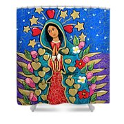 Guadalupe With Stars Shower Curtain