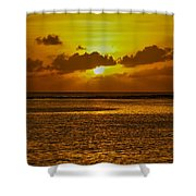Guam Sunset Shower Curtain