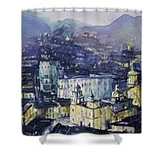 Guanajuato At Night Shower Curtain