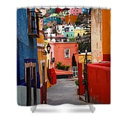 Guanajuato Lane Shower Curtain