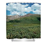 Guanella Pass Mt Bierstadt Shower Curtain by Michael Kirsh