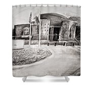 Guarded Entrance Shower Curtain