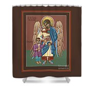 Guardian Angel Guarding Little Elijah Gemmell 191 Shower Curtain
