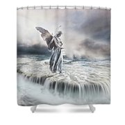 Guardian Angel Shower Curtain