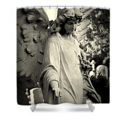 Guardian Angel Watching Over Shower Curtain