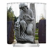 Guardian Of Souls Shower Curtain