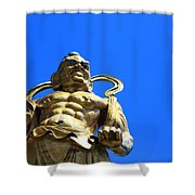 Guarding The Temple Shower Curtain