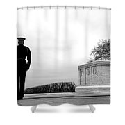 Guarding The Unknown Soldier Shower Curtain