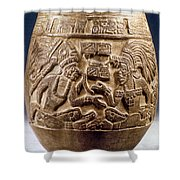 Guatemala: Mayan Vase Shower Curtain