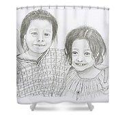 Guatemalan Friends Shower Curtain