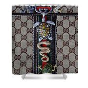 Gucci Monogram With Jewelry 3 Shower Curtain