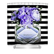Gucci Perfume Violet Shower Curtain