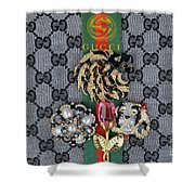 Gucci With Jewelry Shower Curtain