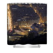 Guggenheim At Night II Shower Curtain