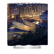 Guggenheim At Night Shower Curtain