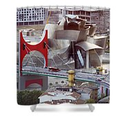 Guggenheim Bilbao Museum II Shower Curtain