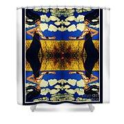Guiar-symmetrical Art Shower Curtain