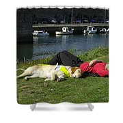 Guide Dog Relaxing Shower Curtain