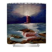 Guiding Night Light Shower Curtain