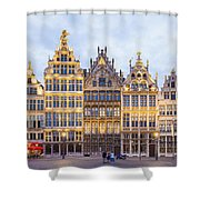 Guild Houses At The Grote Markt Shower Curtain