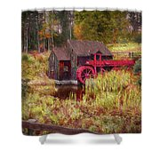 Guildhall Grist Mill In Fall Shower Curtain