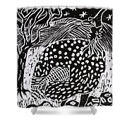 Guinea Fowl Under The Stars Shower Curtain