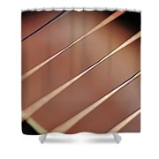 Guitar Abstract 2 Shower Curtain