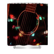 Guitar And Lights Shower Curtain