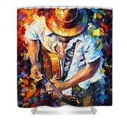 Guitar And Soul Shower Curtain