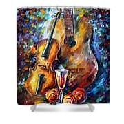 Guitar And Violin Shower Curtain