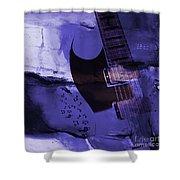 Guitar Art 001a Shower Curtain