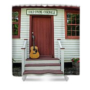 Guitar At Cold Spring Chronicle Shower Curtain