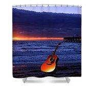 Guitar At Sunrise Shower Curtain