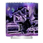 Guitar Blues Shower Curtain