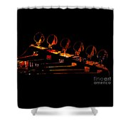 Guitar Head Shower Curtain