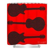 Guitar Silhouette Background Shower Curtain
