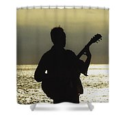 Guitar Silhouette Shower Curtain