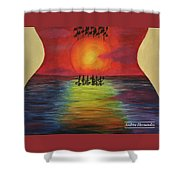 Guitar Suset Shower Curtain