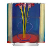 Guitar Vase Shower Curtain