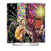 Guitar Watercolor Shower Curtain