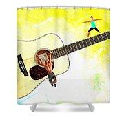 Guitar Workout Shower Curtain